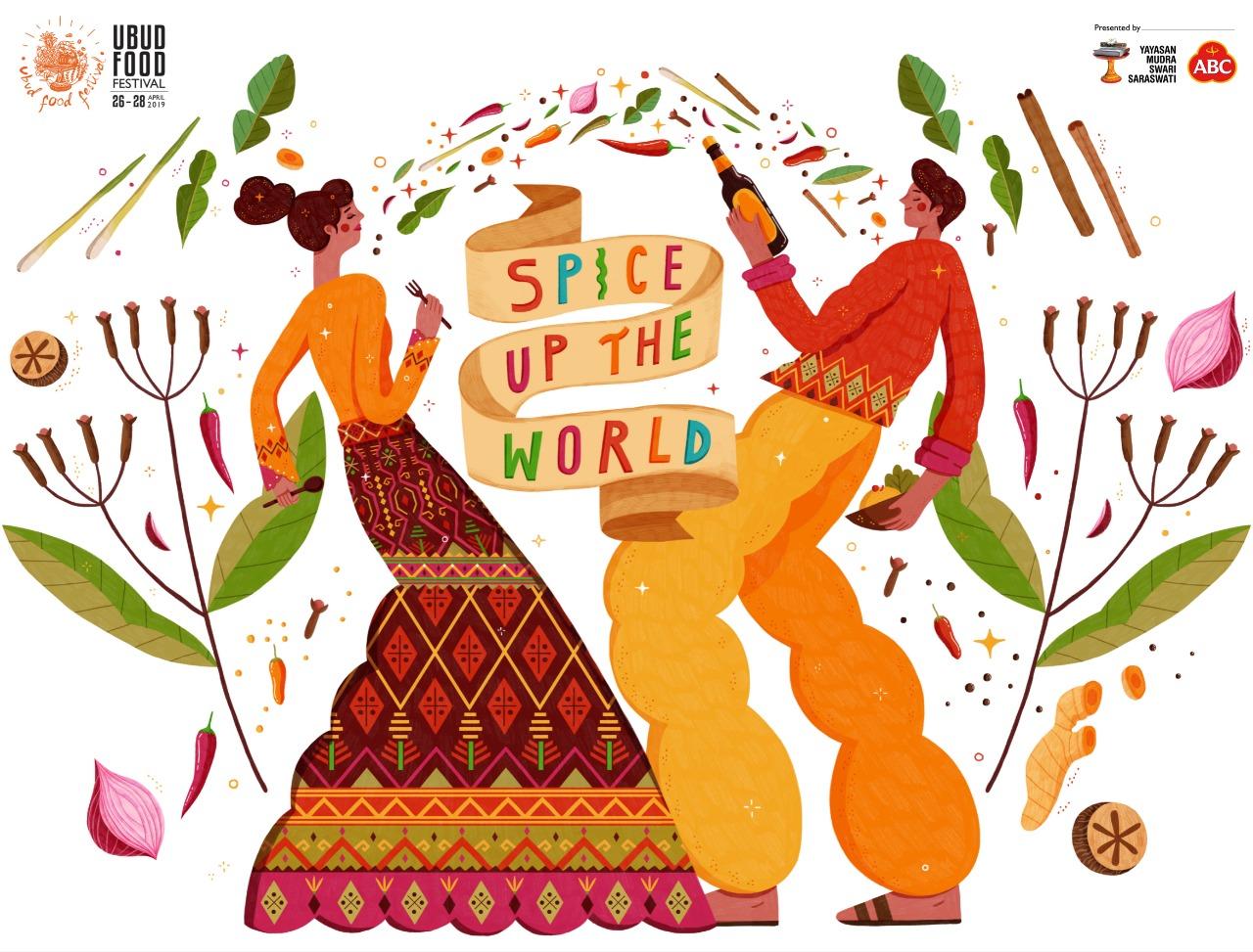 Ubud Food Festival 2019 yang bertajuk Spice Up The World | Sumber: Ubud Food Festival